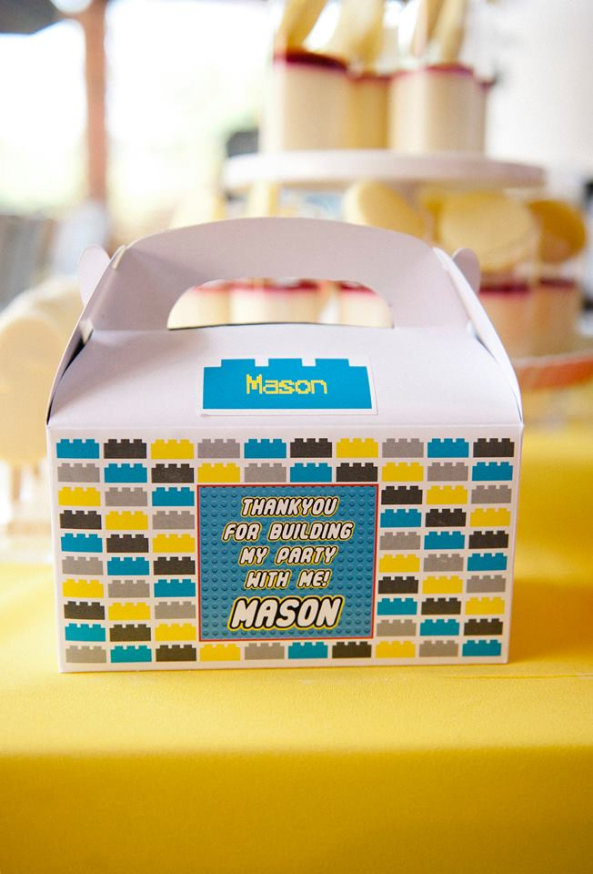Lego favour box - Printables by Dream a Little Dream parties
