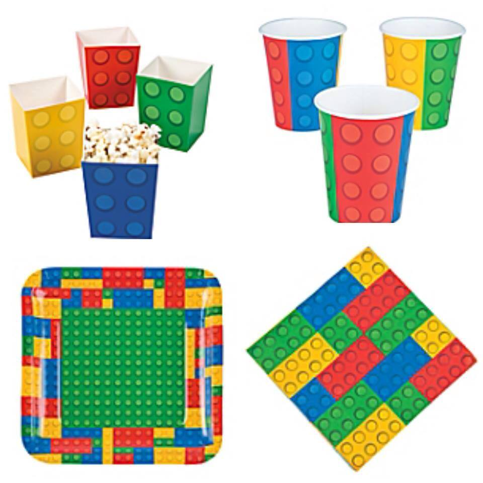 Lego party tableware - Fabvor Lane