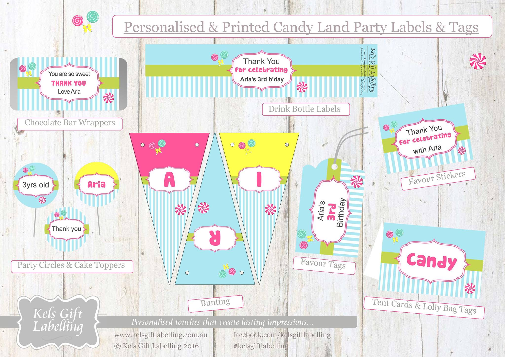 Candyland party printables - Kel's Gift Labelling