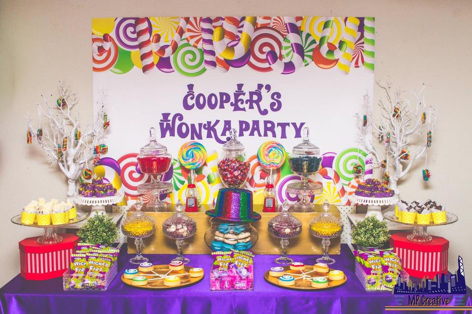 Willy Wonka party dessert table - Opulenticity Party and Buffet Styling (Perth)
