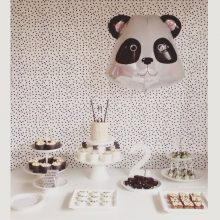 Panda party setup by A Little Delightful blog