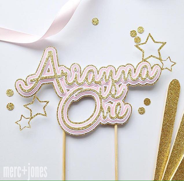Twinkle Twinkle little star party cake topper - Merc and Jones