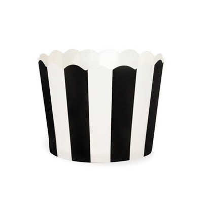 Black and white baking cups - Ruby Rabbit Partyware