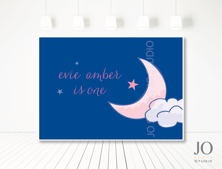 Twinkle Twinkle Little Star backdrop - Jo Studio