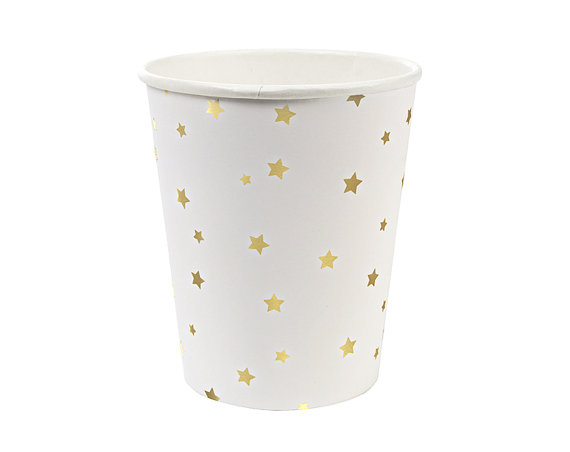Metallic gold star cups - Love The Occasion