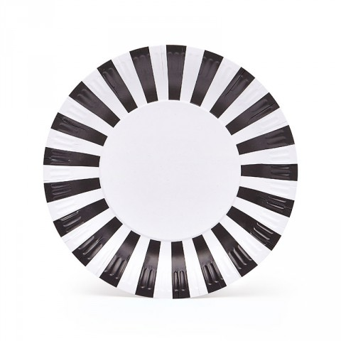 Black tie party plates - Emiko Blue