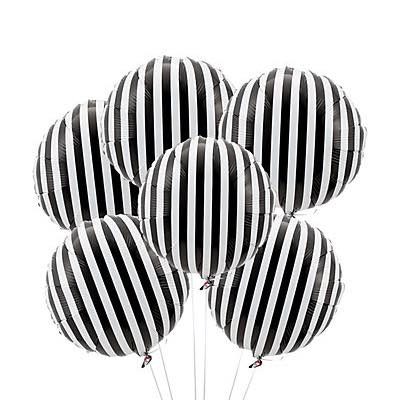 Black and white stripe balloon - Ruby Rabbit Partyware