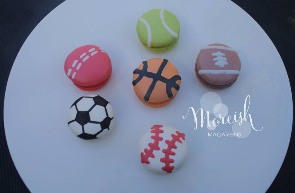 Sports ball macarons - Moreish Macarons (NSW)