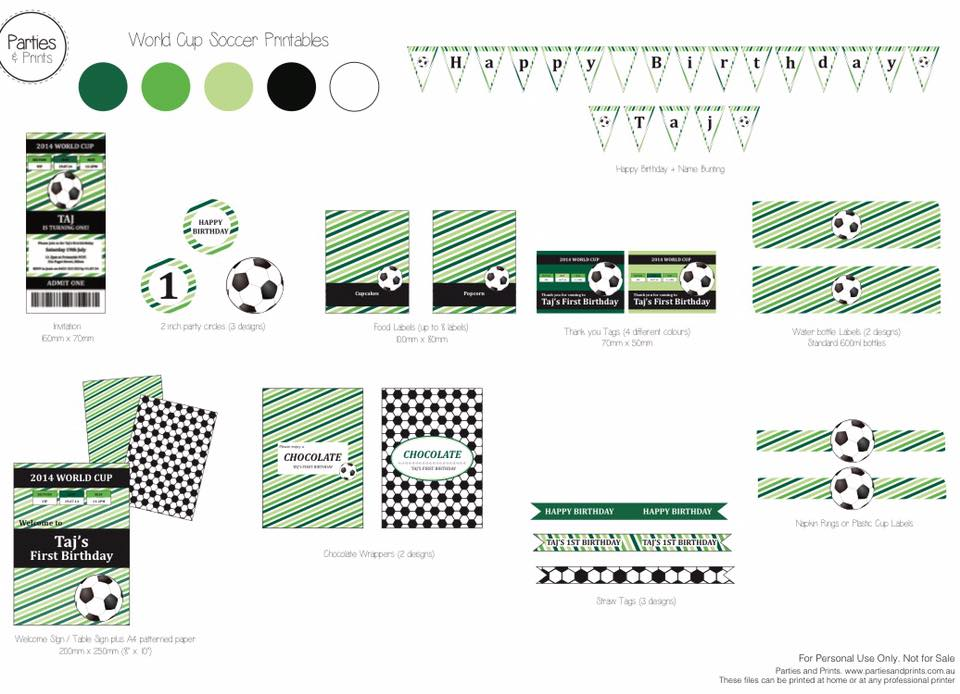 Soccer party printables - Parties and Print