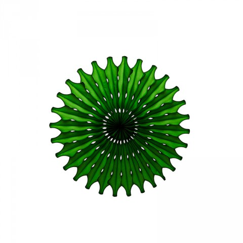 Dark green paper fan - Emiko Blue