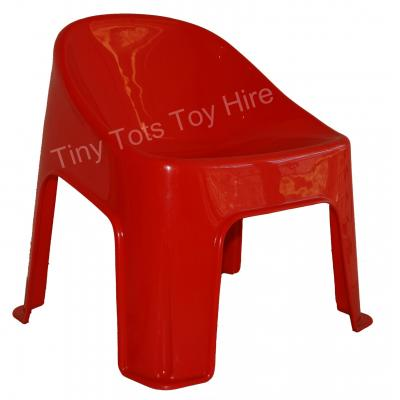 Kids red bubble chair for hire - Tiny Tots Toy Hire Sydney
