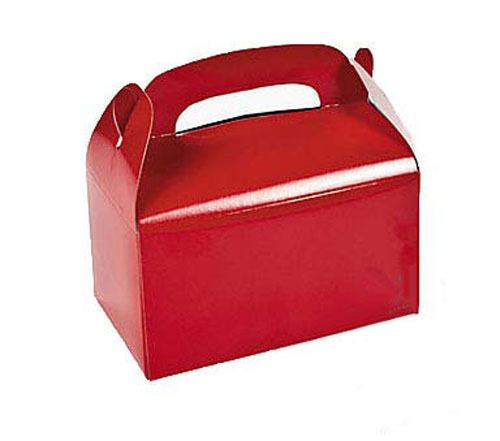 Red coloured treat boxes - The Little Big Company