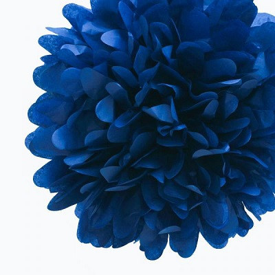 Blue tissue pom pom - Ruby Rabbit Partyware