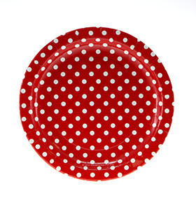 Red polka dot plate - Ruby Rabbit Partyware