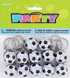 Soccer ball keyring party favour - Party On Shop