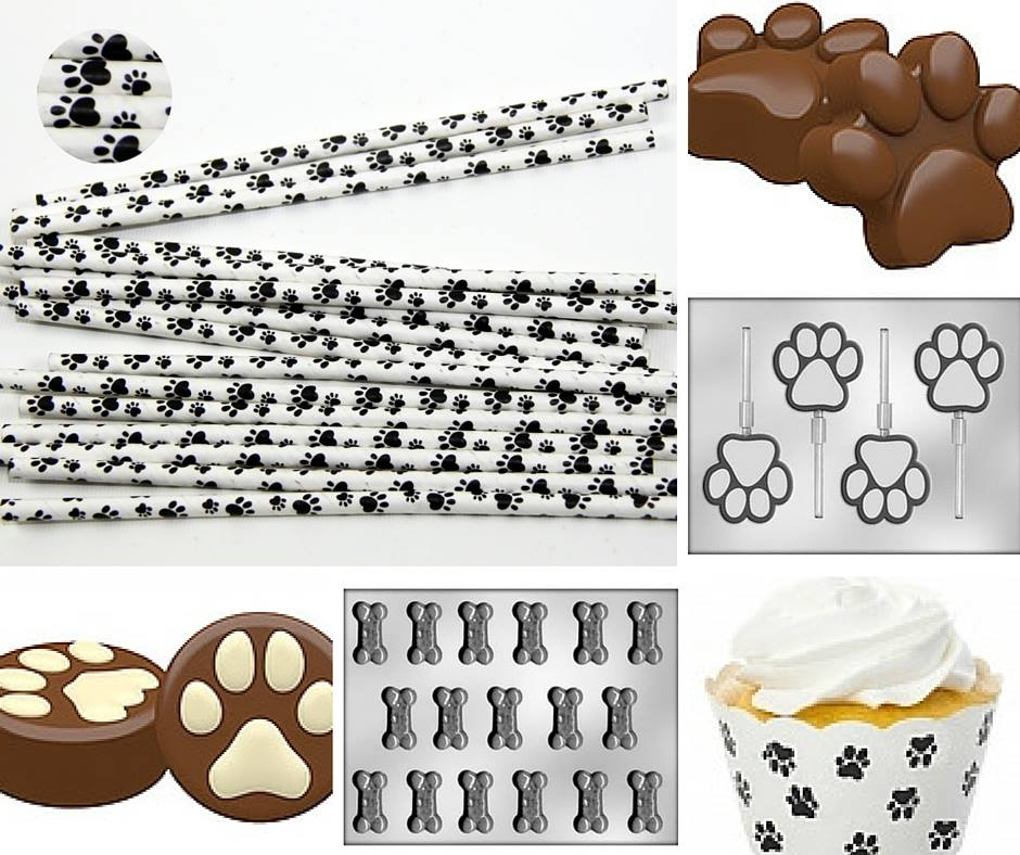 Paw Print baking accessories - Confectionately Yours