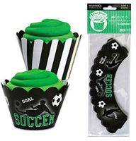Soccer cupcake wraps - Fantasy Kids Parties