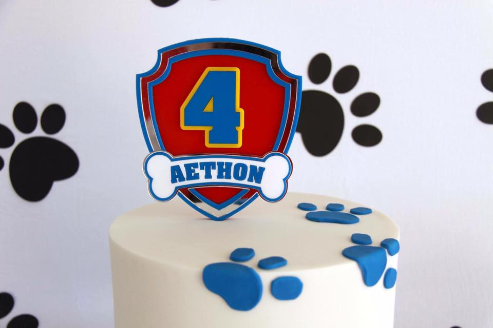 Paw Patrol cake topper - Glistening Occasions