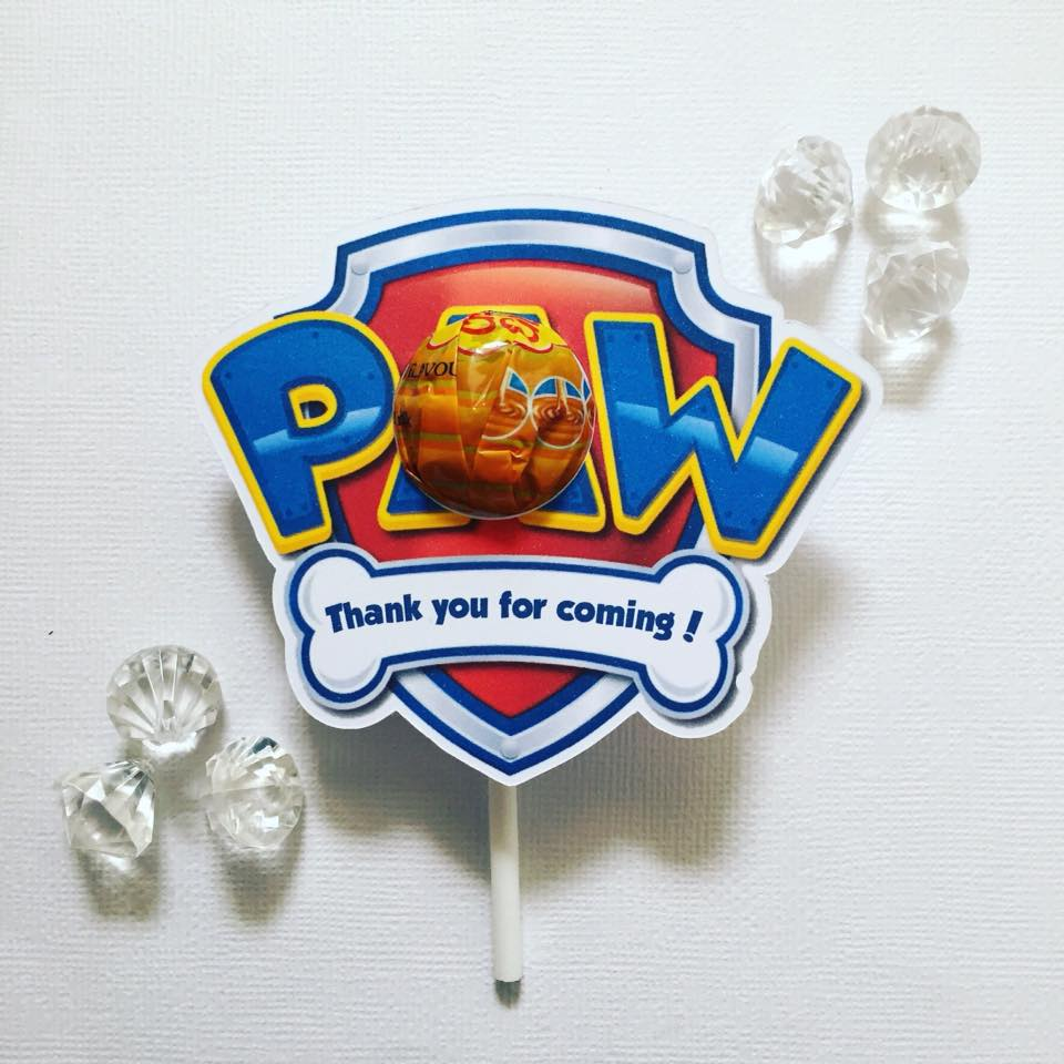 Paw patrol party favour - Glitter and Glue Designs