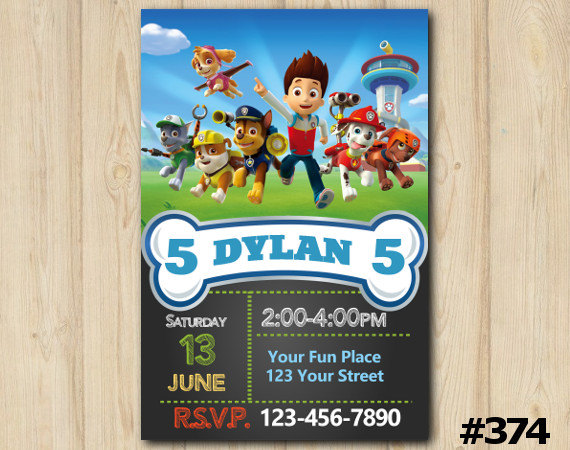 Paw Patrol party invitation - Event Printables