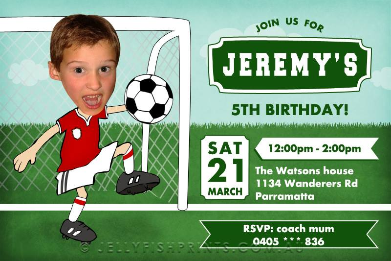 Soccer party invitation - Jellyfish Prints
