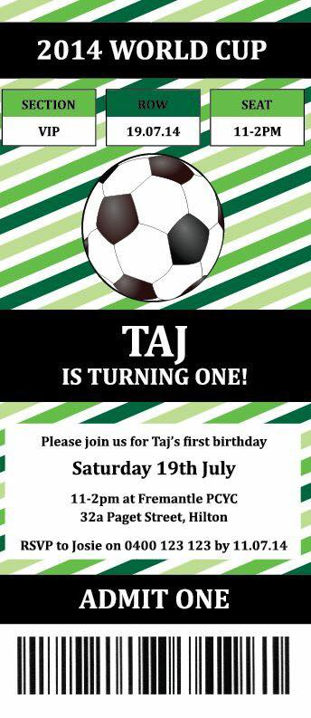 Soccer party invitation - Parties and Print