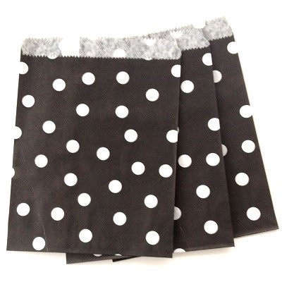 Black spot party bags - Ruby Rabbit Partyware