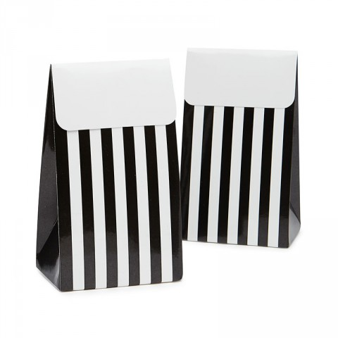 Black and white sambellina treat boxes - Emiko Blue