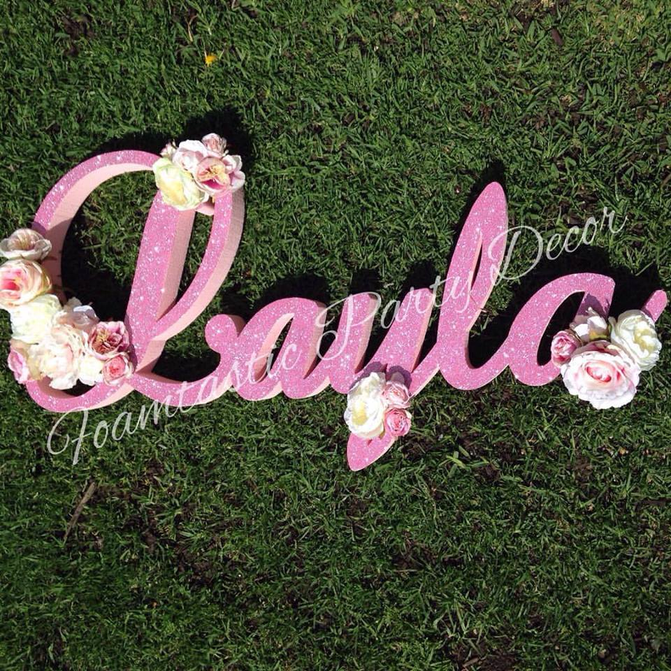 Foam letter name - Foamtastic Party Decor