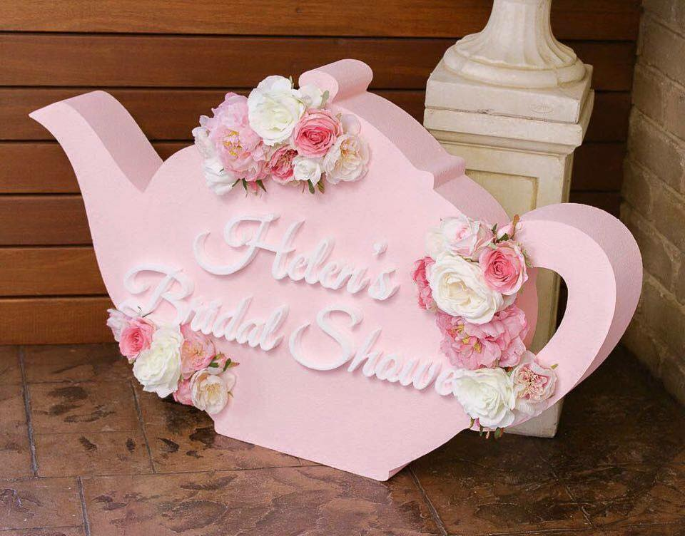 high tea foam sign