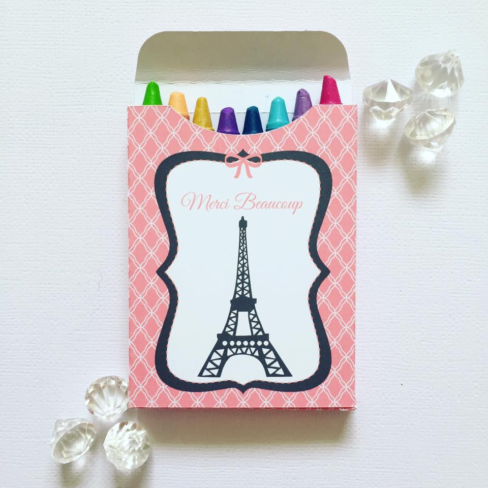 Paris crayon box - Glitter and Glue Designs