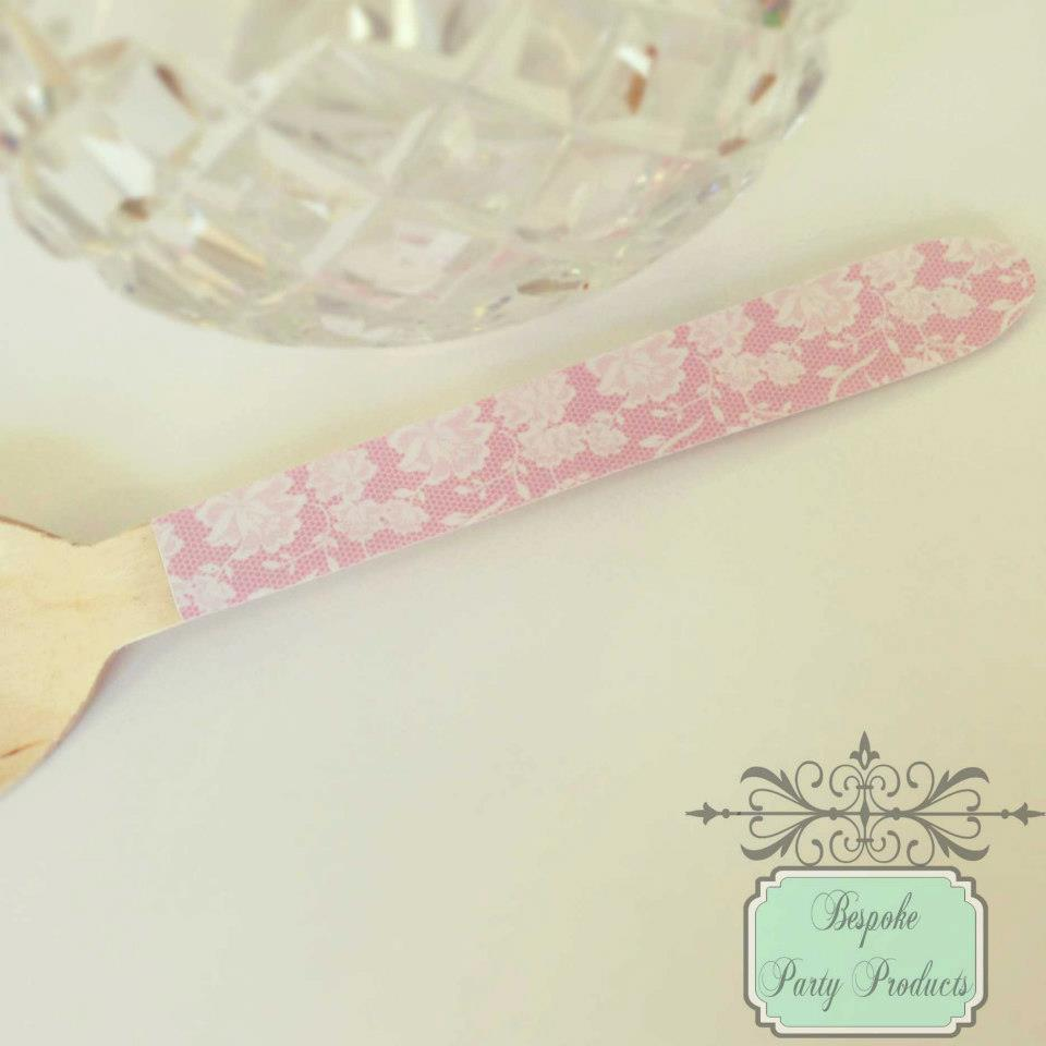 Chantilly lace spoons - Bespoke Party Products