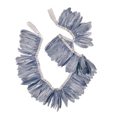 Grey feather garland - Ruby Rabbit Partyware
