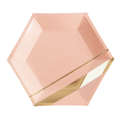 Blush hexagon plates - Ruby Rabbit Partyware
