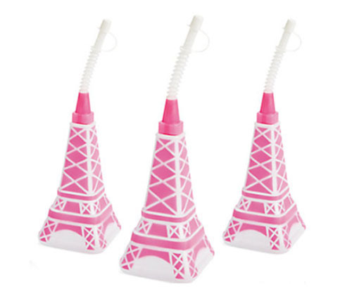 Eiffel tower with straw cup - The Little Big Company