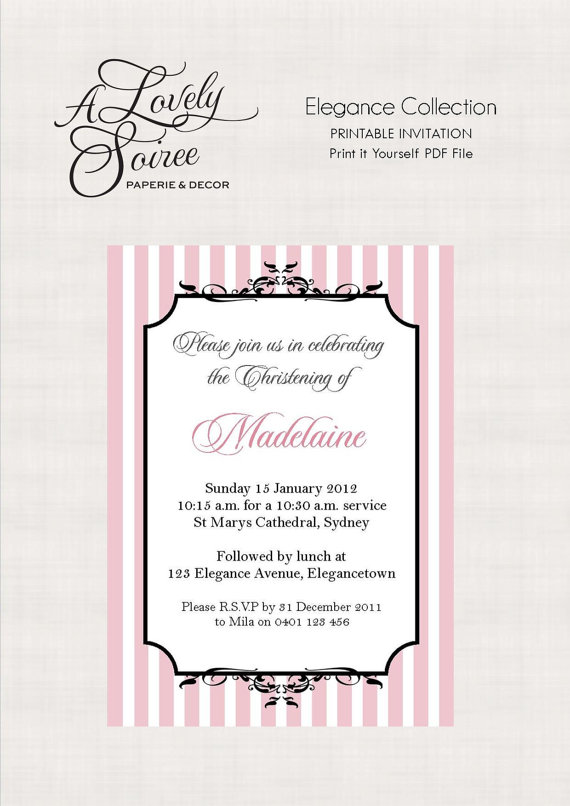 Parisian inspired invitation - A Lovely Soiree