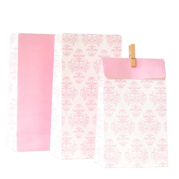 Pink damask bags - The Party Parlour