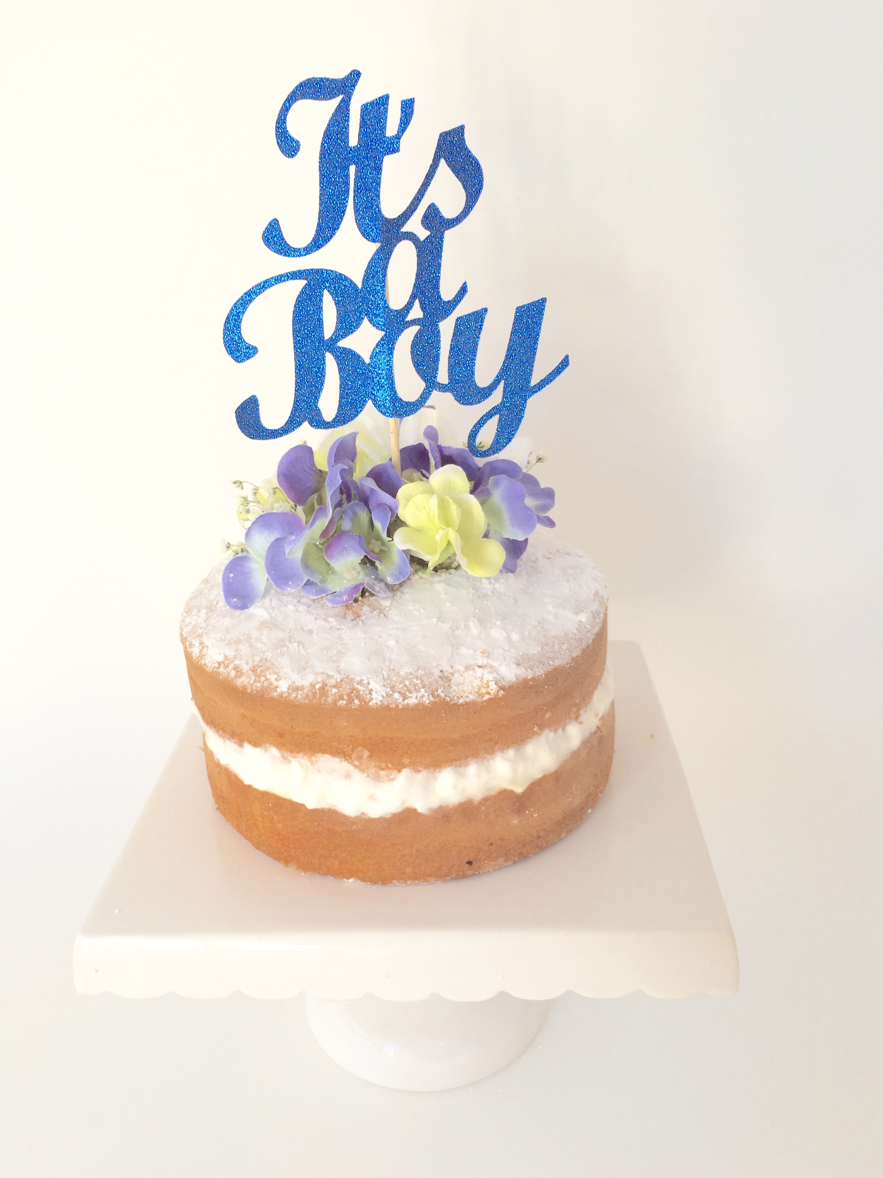 its a boy cake topper dark royal blue