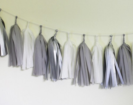 Sterling silver tassel garland kit - Love The Occasion