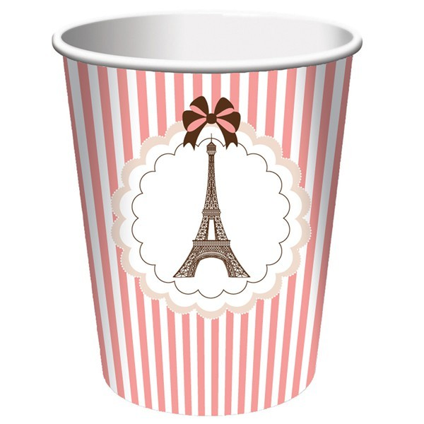 Pink paris cups - Party Splendour
