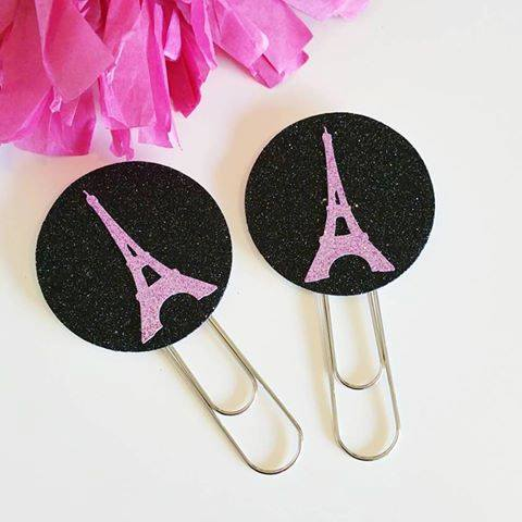 Paris bookmark party favours - Two Little Jays