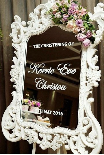 White princess mirror for hire - Sweet Heavenly Events and Hire (Sydney)