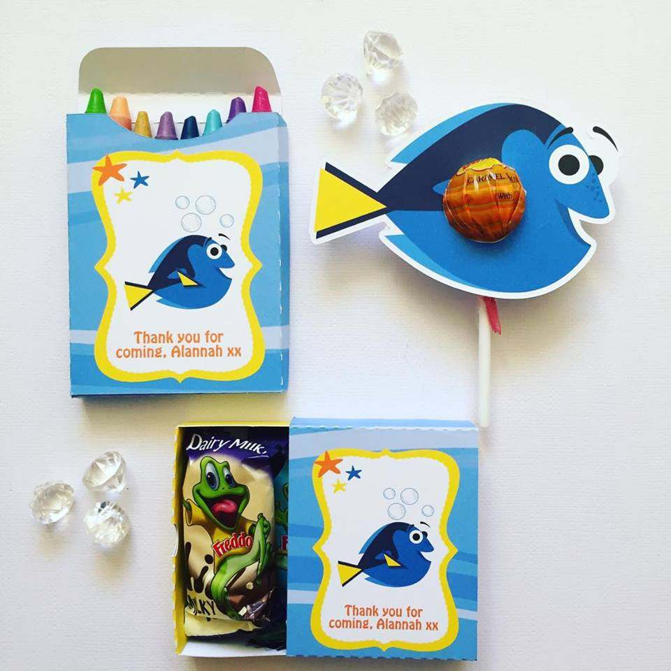 Finding Dory party favours - Glitter and Glue Designs