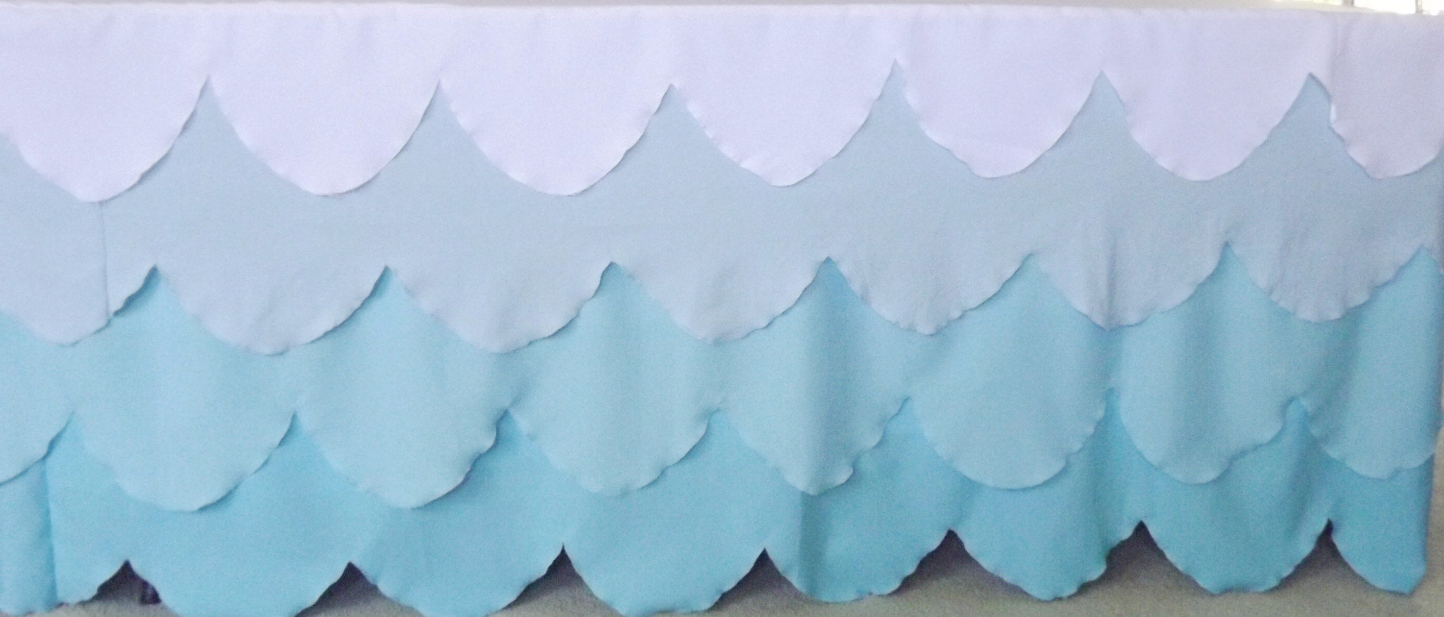 Aqua ombre tablecloth for hire or purchase - Saffy and May (Qld)