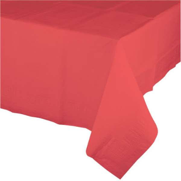 Coral tablecloth - The Party Parlour