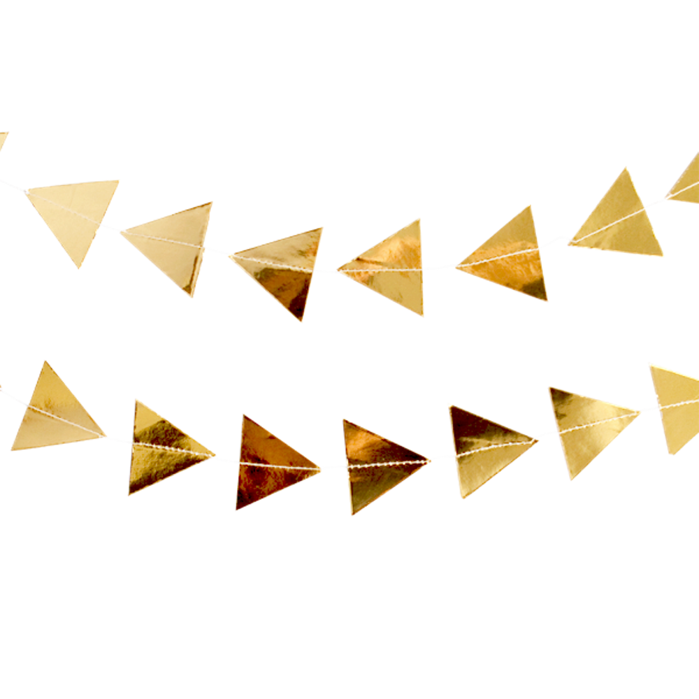 Gold triangle garland - The Little Event Company