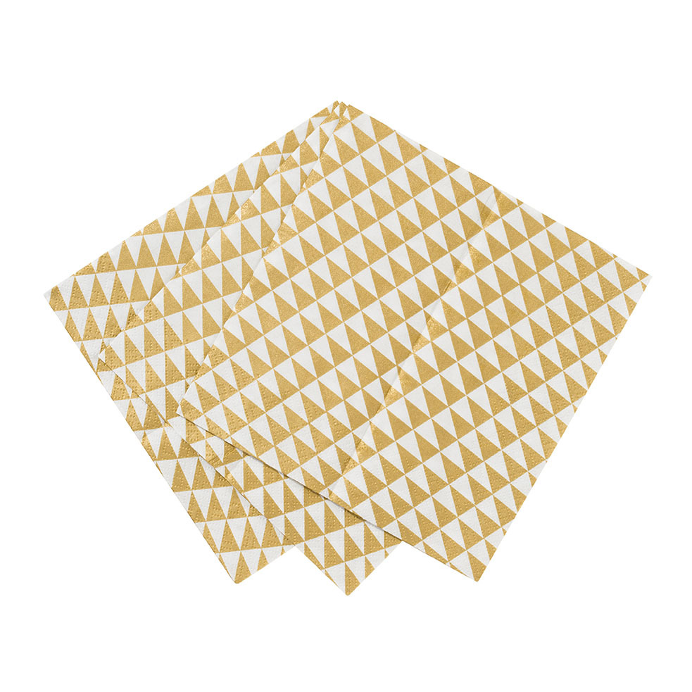 Gold geometric napkins - My Party boutique