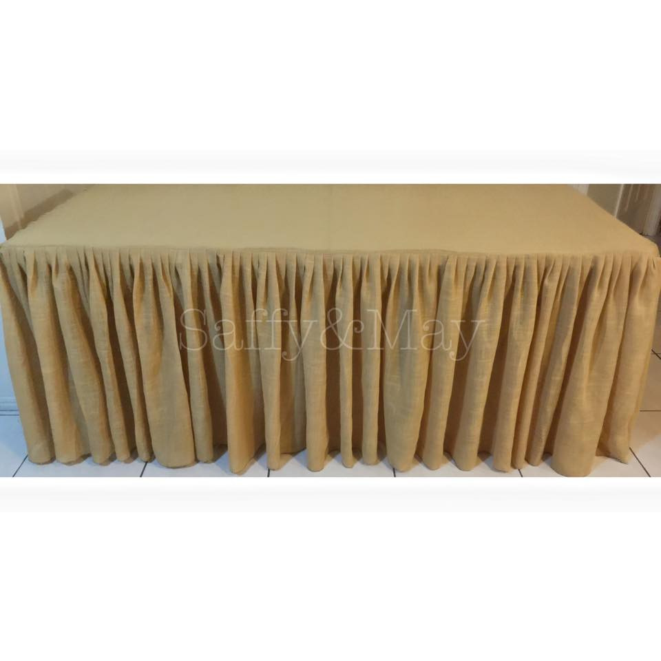 Hessian gathered tablecloth - Saffy and May