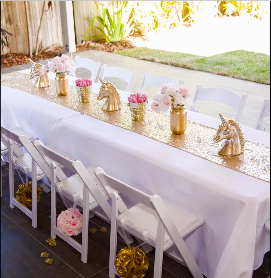 Kids table and chairs for hire - Enchanted Party Hire (Qld)