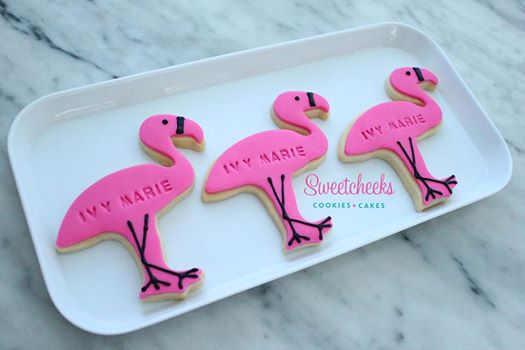 flamingo cookies - sweetcheeks cookies and cakes melbourne
